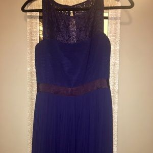 Dresses & Skirts - Navy blue floor length long dress with lace sz 10